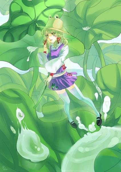 洩矢諏訪子と葉っぱ傘-38