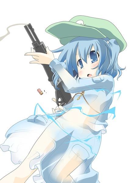 河城にとりと銃-0