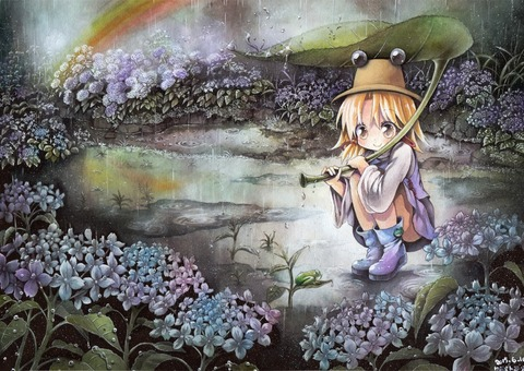 洩矢諏訪子と葉っぱ傘-02