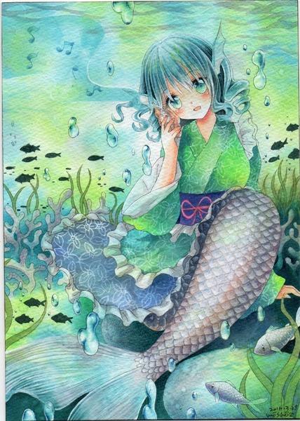 わかさぎ姫と魚-45