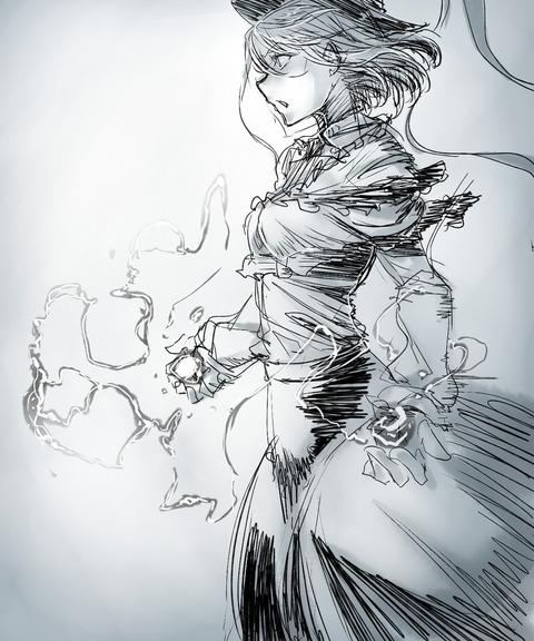 衣玖と雷-05