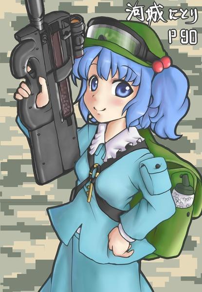 河城にとりと銃-09