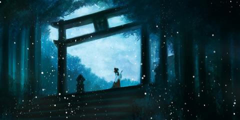 博麗霊夢と雪-33