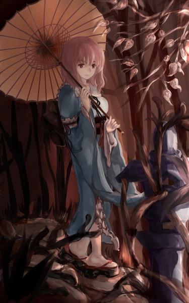西行寺幽々子と和傘-08
