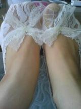 レースリボン靴下