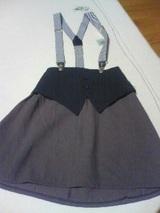 サスペンダー付スカート