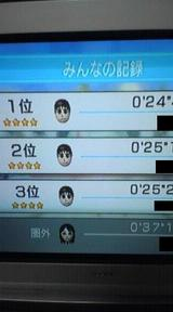 WiiFit バランススキー成績