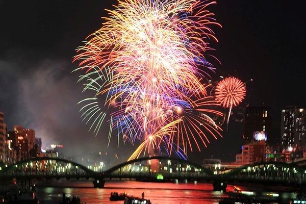 【東京】今夜はいよいよ隅田川花火大会! 気になる天気は… 花火が開始される19時頃から雨が降りやすくなりそうのサムネイル画像