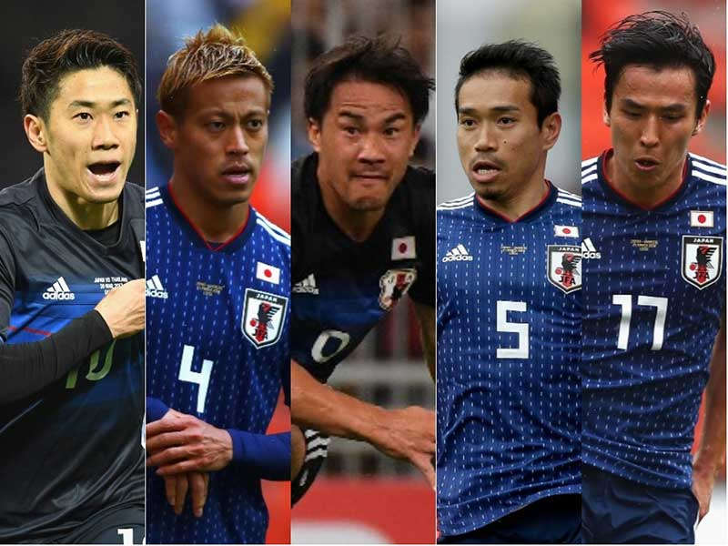 【悲報】サッカー日本代表「ベテラン・クインテット!(五銃士)」のサムネイル画像