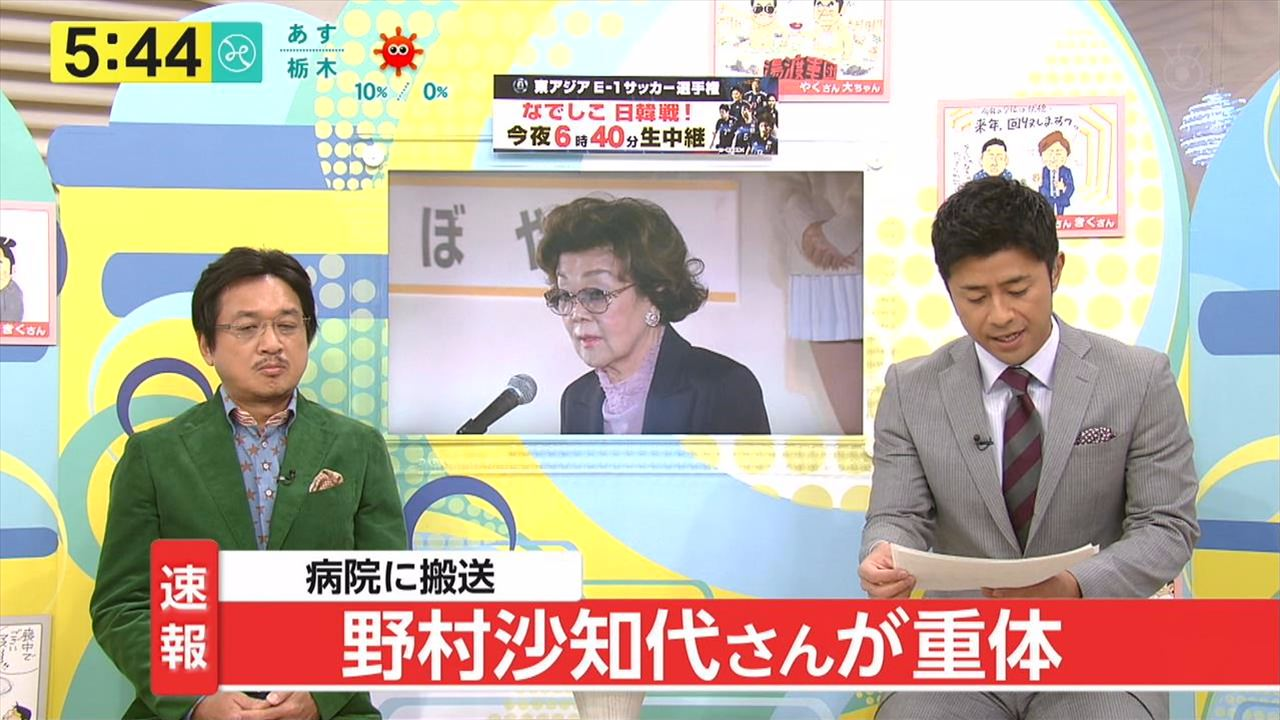 【訃報】野村沙知代さんが死去のサムネイル画像