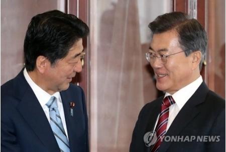 韓日蜜月へ  文大統領と安倍首相が対北朝鮮で共同歩調のサムネイル画像