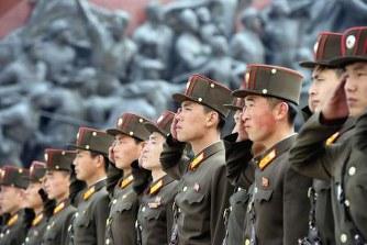 北 朝 鮮 人 民 軍 8 5 周 年 開 催のサムネイル画像