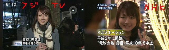 フジテレビ大島アナ、NHKに一般人に間違われて撮影されるのサムネイル画像