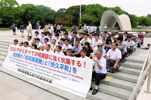 【衝撃】北の核実験に被爆者らが抗議の座り込み「日本政府の核政策が問われている」のサムネイル画像