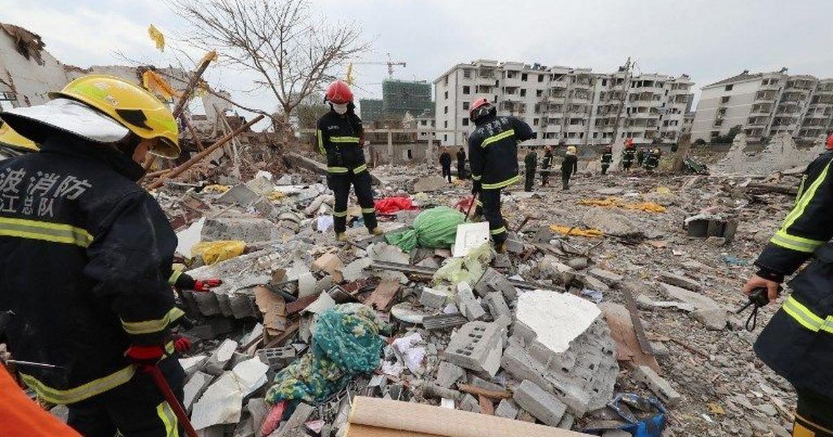 【画像】中国の寧波で大規模な爆発 死傷者多数の模様・・・のサムネイル画像
