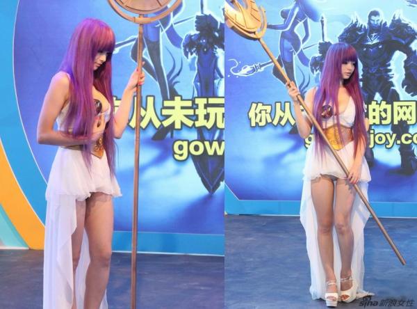 画像91枚。「聖闘士星矢」のアテナ 過激コスプレで「退場」処分…中国最大級のゲームショウでトラブルのサムネイル画像