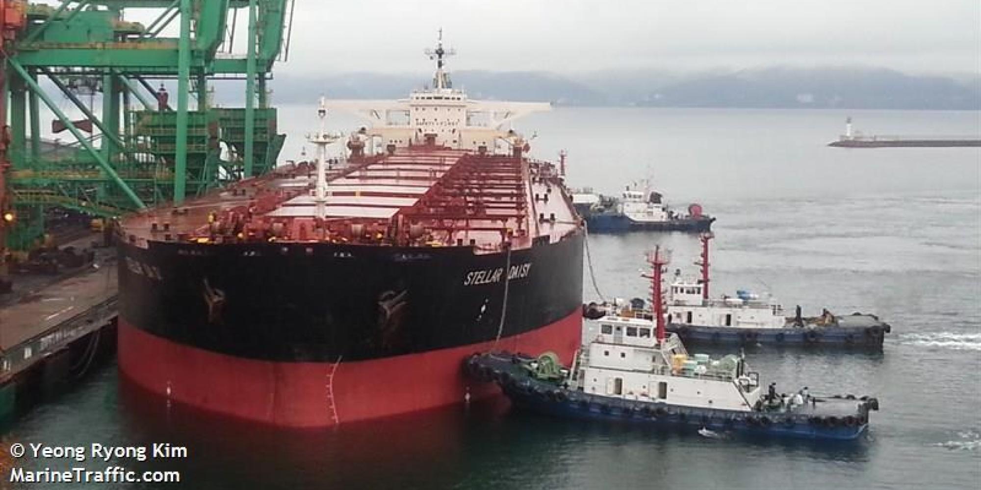 韓国の大型鉱石運搬船 ステラデイジーが大西洋で遭難 乗っていたのは韓国人8人とフィリピン人16人 フィリピン人2人は救助のサムネイル画像