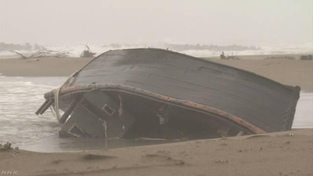 【速報】金沢に漂着した木造船から7人分の死体見つかる。また北朝鮮からか?のサムネイル画像