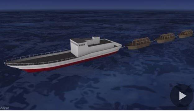 【画像】相次ぐ北朝鮮の木造漁船の漂着。大型の「母船」の存在を確認wwwwwwwwwww のサムネイル画像