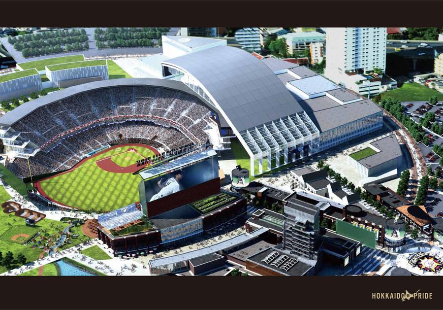 日ハムが建設予定の新球場がかっこよすぎるwwwwwwwwwwwwwのサムネイル画像