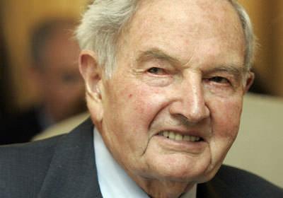 デービッド・ロックフェラー氏死去、101歳のサムネイル画像