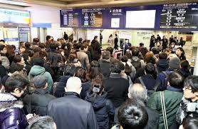 【大雪】帰りたくても帰れない 渋谷・品川駅で入場規制 → どうしたらいいのか・・・のサムネイル画像