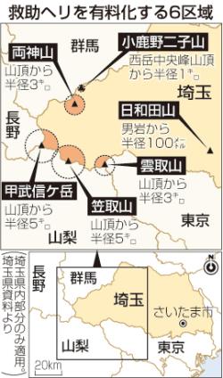 【埼玉】山岳救助ヘリ  来年1月、全国初の有料化wwwwwwwwwのサムネイル画像