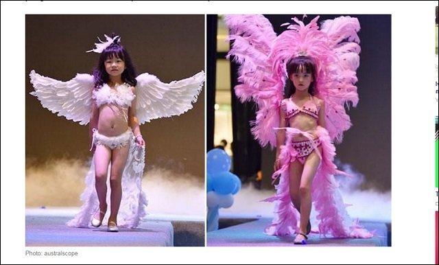 【衝撃】中国のファッションショー、幼女らをセクシー下着モデルに起用wwwwwwwwwwwwのサムネイル画像