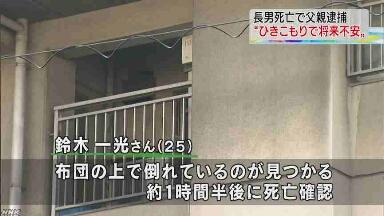 【愛知】障害のあるひきこもり長男(25)を殺害 → 派遣社員「将来が不安になった」のサムネイル画像