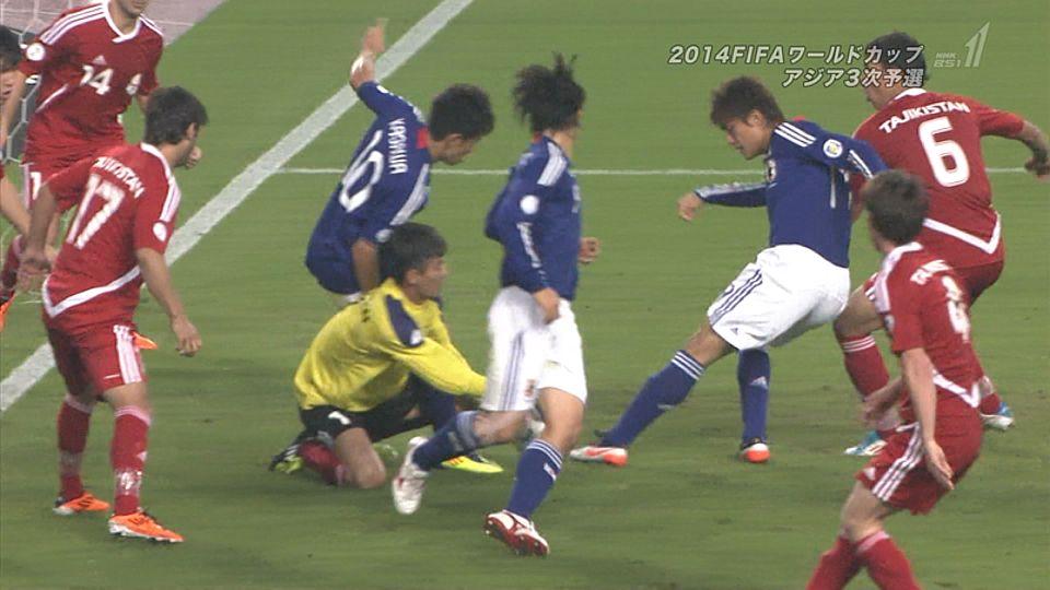 サッカーW杯予選、日本がタジキスタンに8-0で圧勝のサムネイル画像