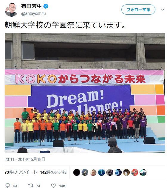【驚愕】有田芳生、朝鮮学校の「学園祭」を訪問wwwwwwwwwwwwwwwのサムネイル画像