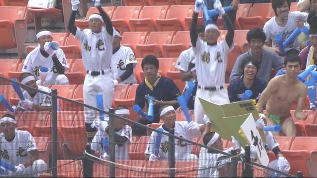 小島よしおワロタ。高校野球の応援席で海パン一丁で応援し母校の勝利に貢献する。のサムネイル画像