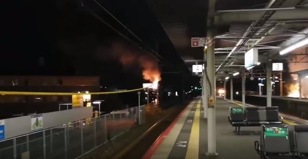 【動画】JR琵琶湖線・瀬田駅でヤバすぎる架線事故が発生www 怖すぎワロタwのサムネイル画像