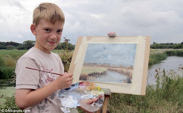 天才画家モネの再来か、7歳少年の33作品30分で完売、15万ポンドを売り上げのサムネイル画像