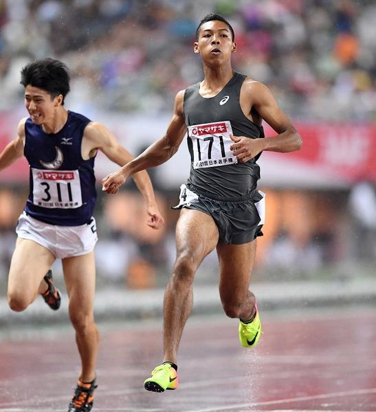 【驚愕】日本選手権男子陸上100m決勝、なんと優勝wwwwwwwwwwwwwwのサムネイル画像
