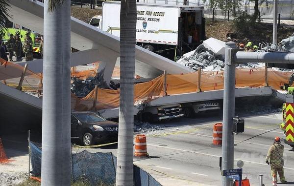 【アメリカ】フロリダ国際大学で歩道橋崩落、死傷者多数。のサムネイル画像