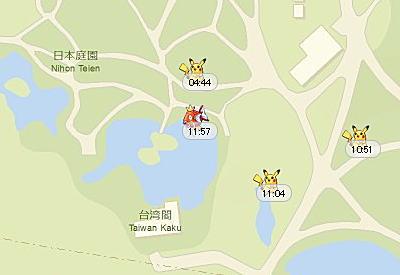 ポケモンGOのモンスターが湧くポイント湧く時間が解析される!?凄いマップが登場したぞ。のサムネイル画像