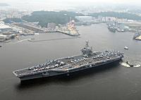 第七艦隊「二つの空母打撃群、米国と同盟国の共通の海洋利益を守るために、戦闘即応態勢にある」のサムネイル画像