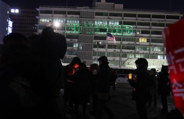 【衝撃】韓国裁判所、米国大使館を取り囲む「反THAAD集会」を許可wwwwwwwwwwwのサムネイル画像