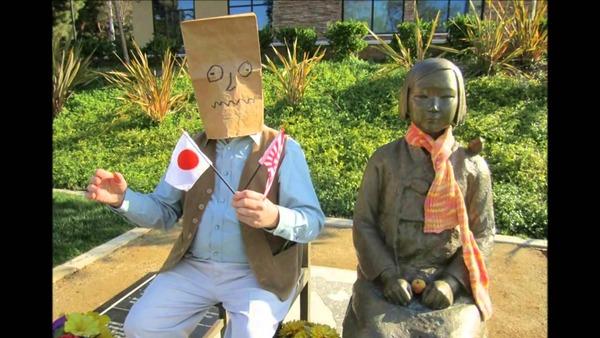 【韓国】日本好きな韓国人学生、慰安婦像に日章旗と旭日旗を持たせ逮捕されるのサムネイル画像