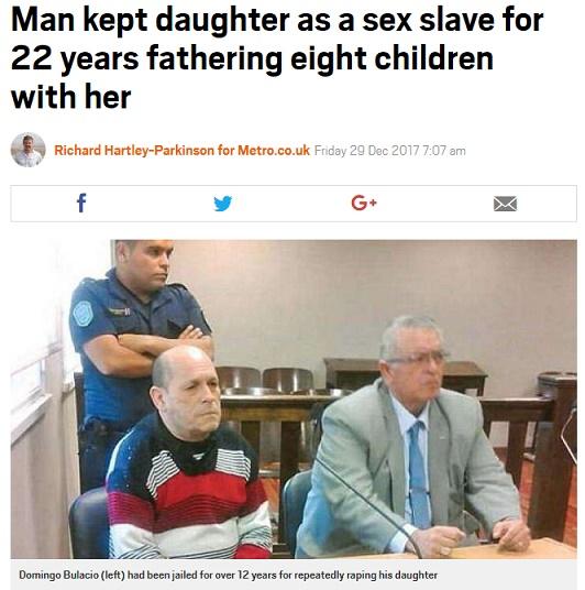 【衝撃】22年間娘に性的暴行 8人の子を産ませる→裁判の結果・・・のサムネイル画像