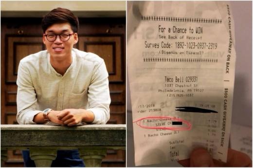 【タコベル】人種差別的な言葉を「領収書」に書かれた韓国人男性、激怒へ・・・のサムネイル画像
