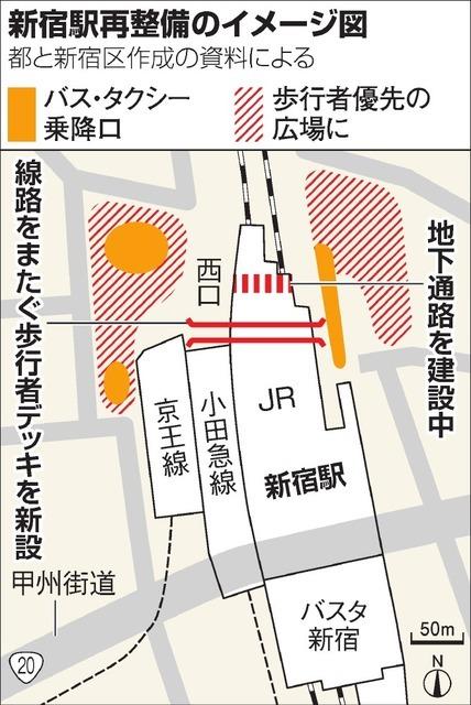 【悲報】新宿駅の東西通路の実現日wwwwwwwwwwwwwwのサムネイル画像