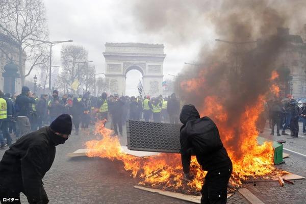 【悲報】フランスのデモ、相変わらずヤバい・・・・・のサムネイル画像