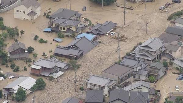 【記録的豪雨】死者や安否不明者の数がヤバ過ぎる・・・のサムネイル画像