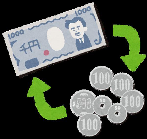 偉い人「小銭から札に両替するときに手数料取ったらもうかるんじゃね?」 のサムネイル画像