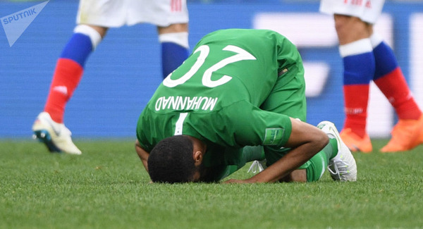 【緊急悲報】W杯でロシアに公開処刑されたサウジアラビア選手、処罰へ・・・のサムネイル画像