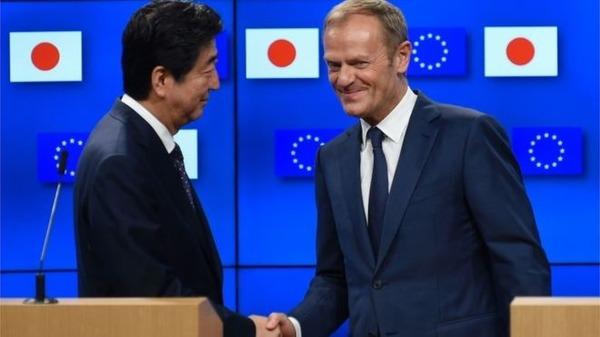 【速報】日本とEU、EPAに署名! → 規模がとてつもない模様wwwwwwwwwwのサムネイル画像