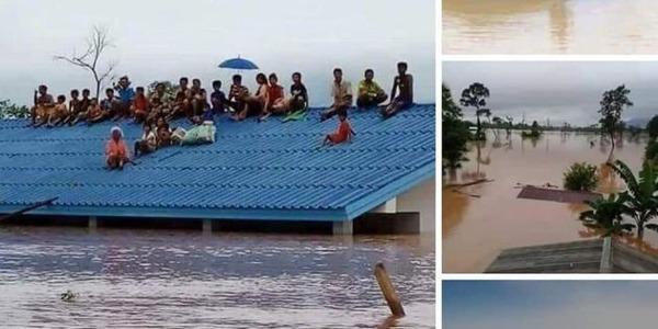 【衝撃】ラオスのダム決壊、カンボジアでも被害が甚大に!!!→ 避難者の数がヤバ過ぎる件・・・・・のサムネイル画像