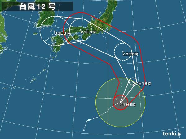 【悲報】台風12号、「ループ」へwwwwwwwwwwwwwwwwwwwのサムネイル画像